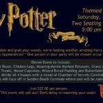 Harry Potter Themed Dinner